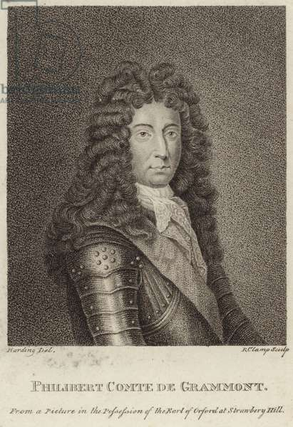 Portrait of Philibert, comte de Gramont (engraving)