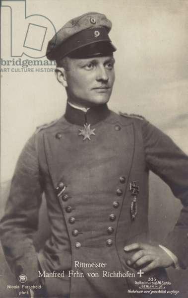 Manfred Albrecht Freiherr von Richthofen (b/w photo)