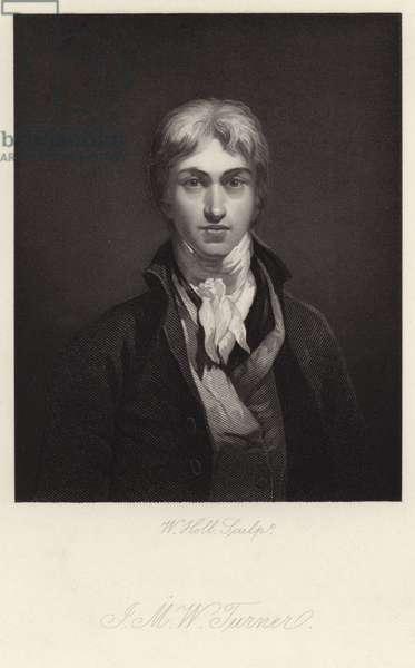 Self-portrait of J M W Turner (engraving)