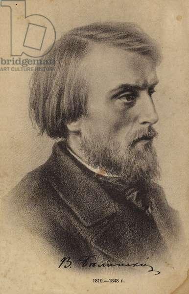 Vissarion Belinsky, Russian literary critic (litho)