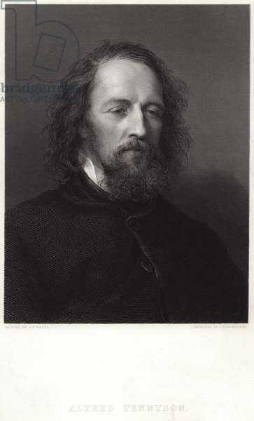 Portrait of Alfred, Lord Tennyson (engraving)