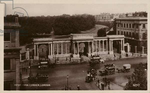 Hyde Park Corner, London (b/w photo)