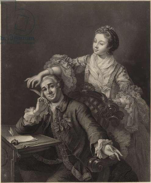 David Garrick and his wife (engraving)