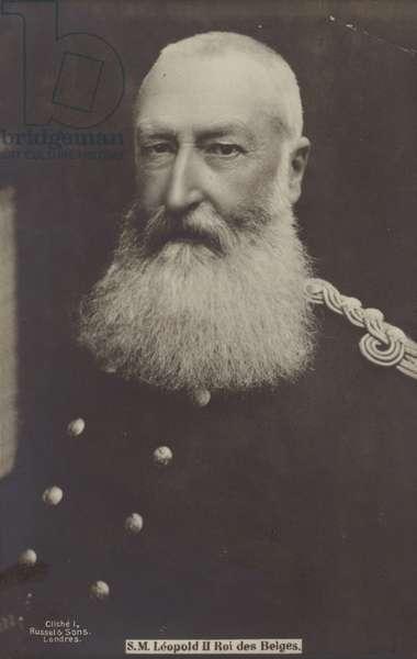 King Leopold II (b/w photo)