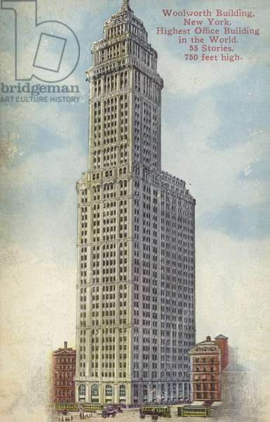 Woolworth Building, New York City, USA (coloured photo)