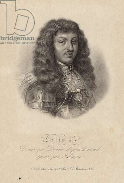 Portrait of King Louis XIV (engraving)