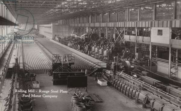 Rolling mill, Rouge Steel Plant; Ford Motor Company, Dearborn, Michigan (b/w photo)