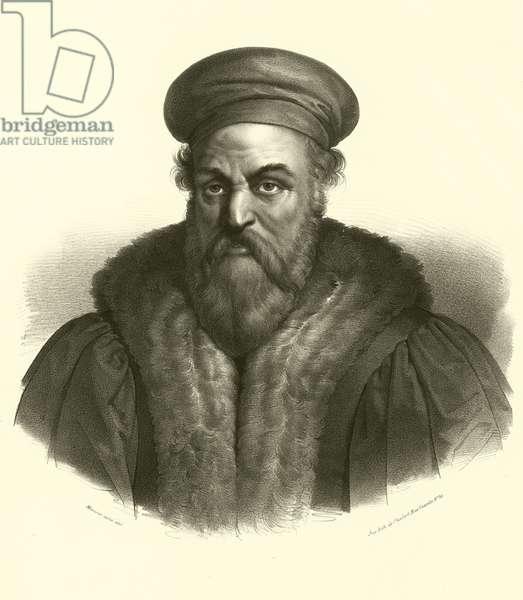 Polidoro da Caravaggio, portrait (engraving)