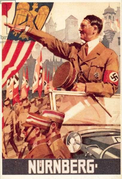 Nuremberg Rally (colour litho)