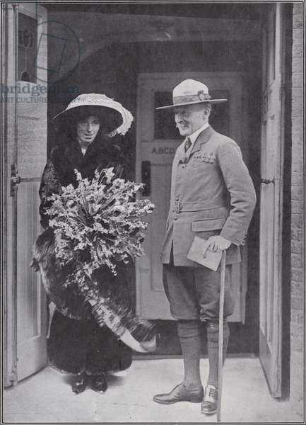 A portrait of Sir Robert and Lady Baden-Powell (b/w photo)