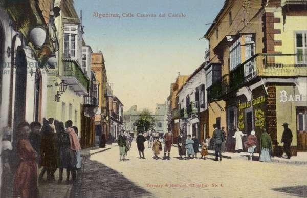 Calle Canovas del Castillo, Algeciras, Spain (coloured photo)
