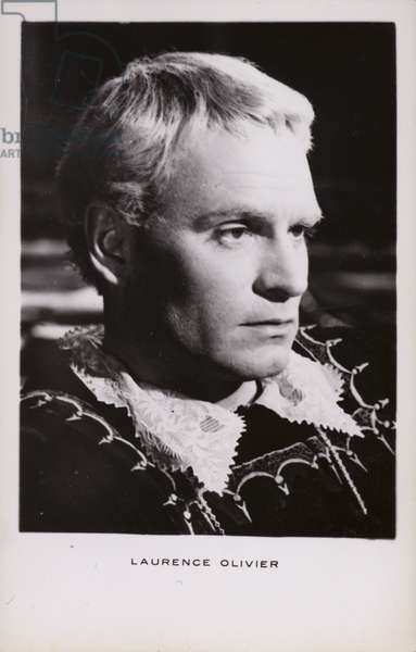 Laurence Olivier (b/w photo)