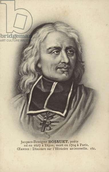 Jacques-Benigne Bossuet (1627-1704), French Catholic bishop, theologian and writer (litho)