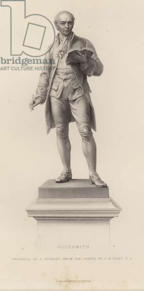 Statue of Oliver Goldsmith (engraving)