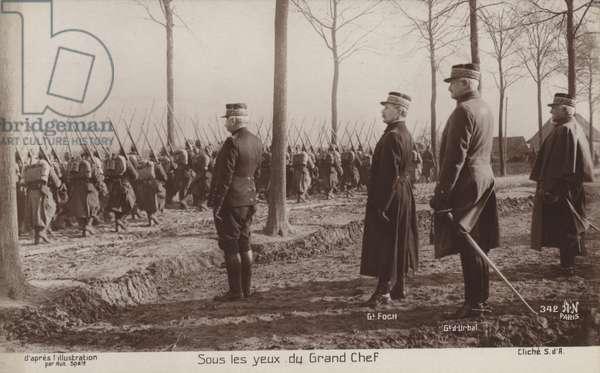 Under the eyes of the big chief, France, World War I (b/w photo)
