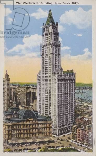 The Woolworth Building, New York City, USA (colour photo)