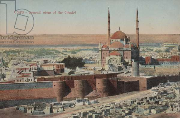 Citadel and Mosque of Muhammad Ali, Cairo, Egypt (colour photo)