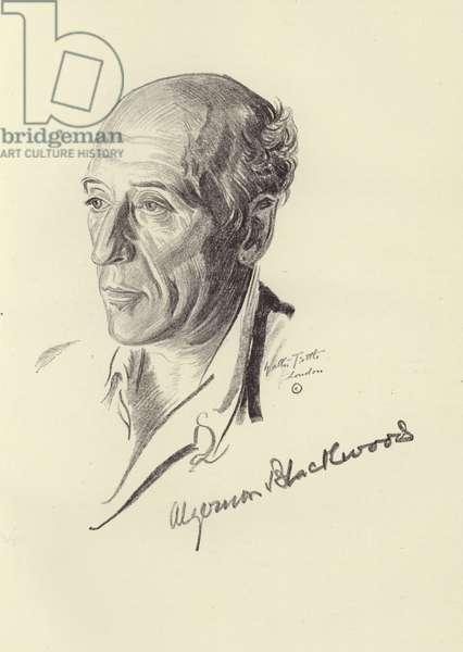 Algernon Blackwood, English short story writer and novelist (litho)