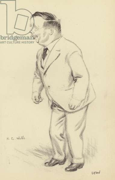 H G Wells (litho)