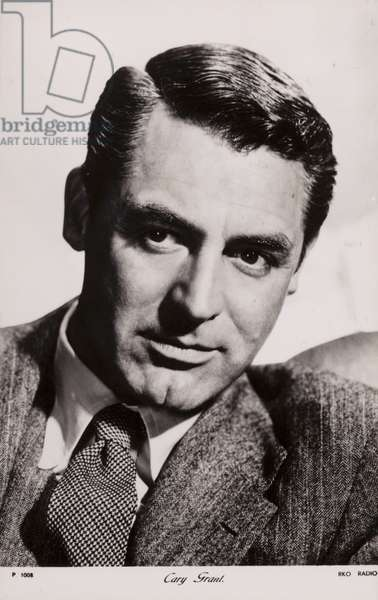 Cary Grant, English actor and film star (b/w photo)