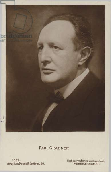 Paul Graener, German composer and conductor (1872-1944) (b/w photo)