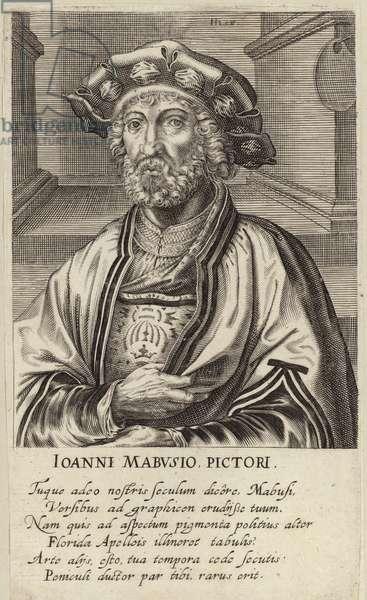 Portrait of Jan Mabuse (engraving)