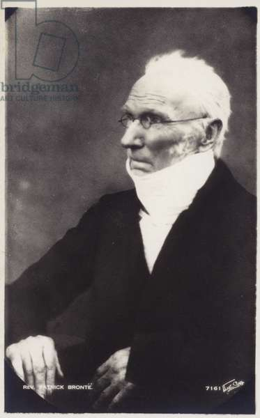 Portrait of Reverend Patrick Bronte (b/w photo)