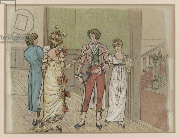 Sir Roger de Coverley (colour litho)