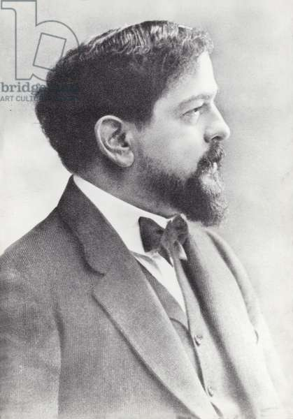 Claude Debussy, French Composer (1862-1918) (b/w photo)