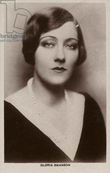 Gloria Swanson, American actress and film star (b/w photo)