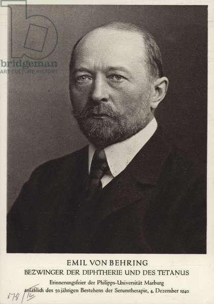 Emil von Behring (1854-1917), German physiologist and immunologist (b/w photo)