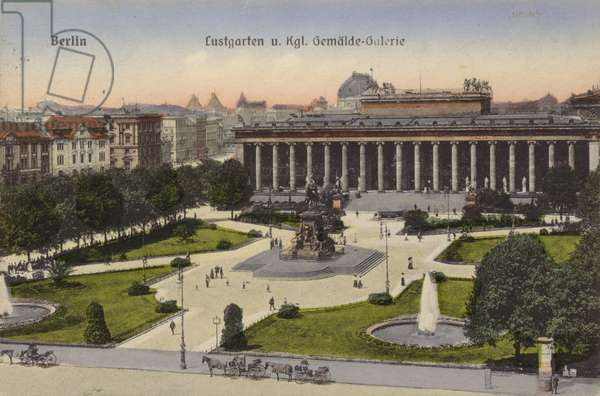 Lustgarten and Royal Art Gallery, Berlin (coloured photo)