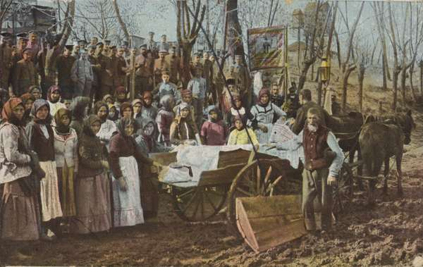 Romanian funeral (coloured photo)