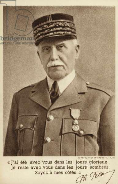 Marshal Pétain (b/w photo)