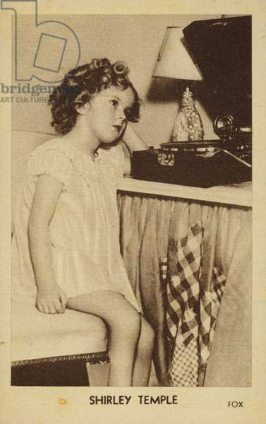 Shirley Temple, American actress, singer, dancer and film star (b/w photo)