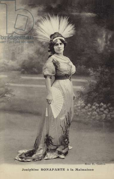 Madam Guerin as Josephine Bonaparte (b/w photo)