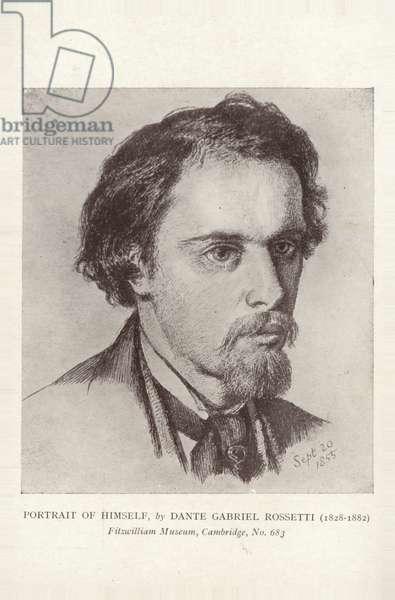 Dante Gabriel Rossetti, English painter, illustrator and poet (litho)