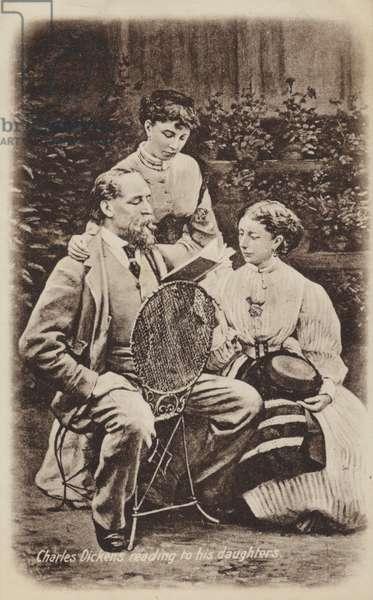 Charles Dickens (1812-1870), English novelist (litho)