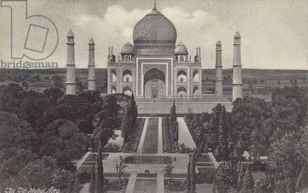 The Taj Mahal, Agra (b/w photo)