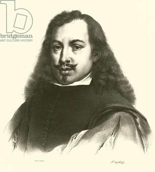 Bartolome Esteban Murillo, portrait (engraving)