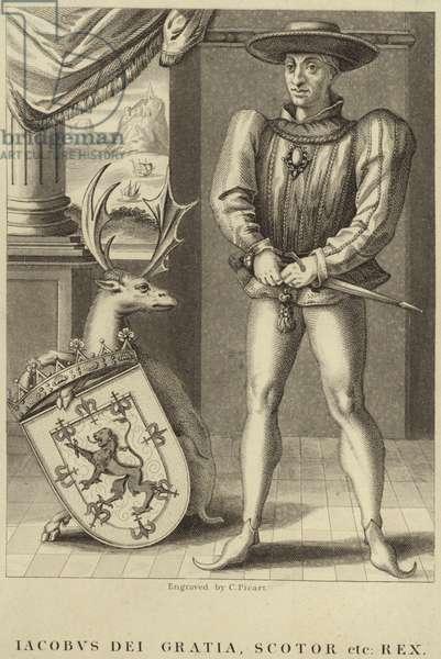 Portrait of King James I of England (engraving)