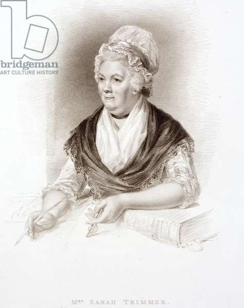 Sarah Trimmer, British children's author (engraving)