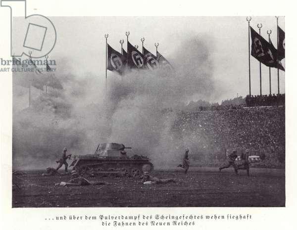Army exercise, Nuremberg Rally, 1936 (b/w photo)