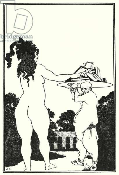 Aubrey Beardsley's book-plate (engraving)