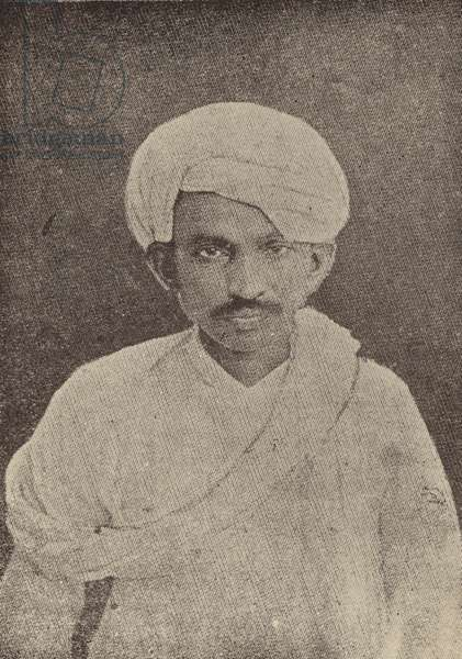 Mahatma Gandhi, Indian leader of the movement for independence from British rule, 1920s (b/w photo)