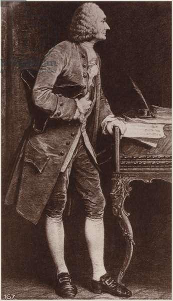 Portrait of Jean-Philippe Rameau (engraving)
