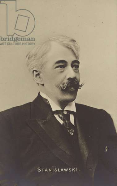 Constantin Stanislavski, Russian actor and theatre producer (b/w photo)