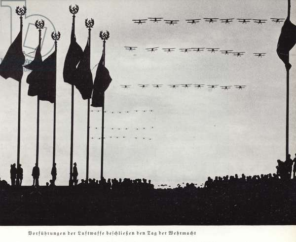 Display by the Luftwaffe to close the Day of the Armed Forces, Nuremberg Rally, 1936 (b/w photo)