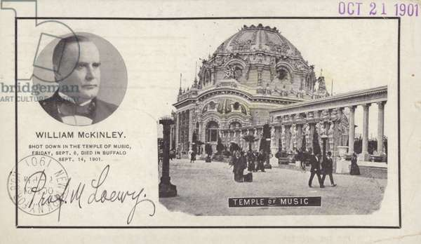 Assassination of US President William McKinley, 1901 (litho)