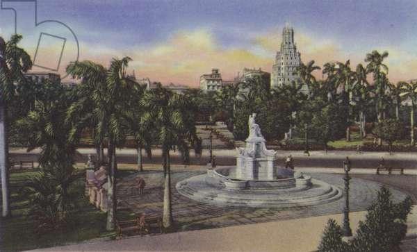 Parque Fraternidad, Estatua de la India, Fraternity Park, India Statue (coloured photo)